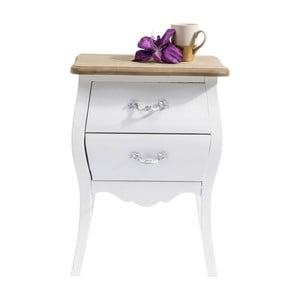 Biela drevená komoda Kare Design Romantic