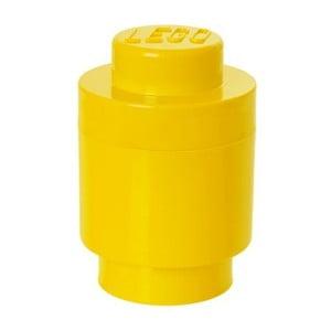 Žltý úložný okrúhly boxík LEGO®