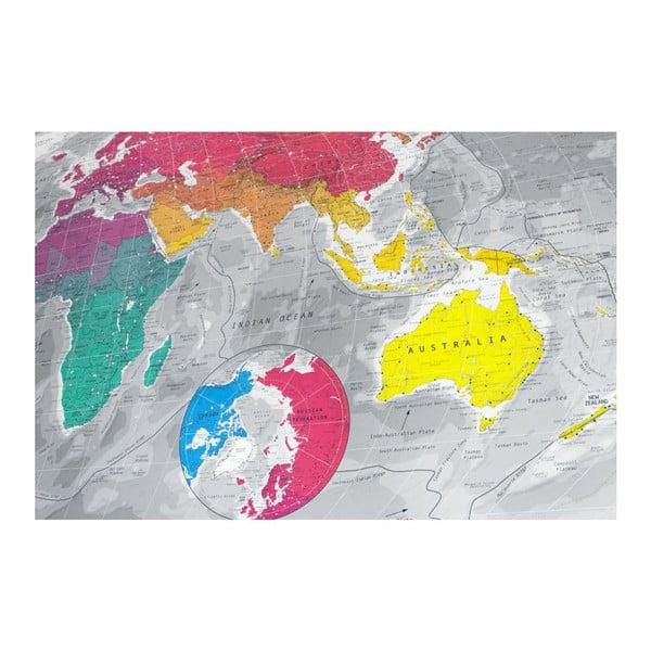 Magnetická mapa sveta The Future Mapping Company Colourful World, 130x72cm