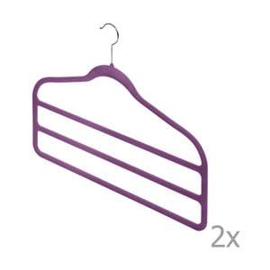Sada 2 fialových vešiakov na nohavice Bonita Living