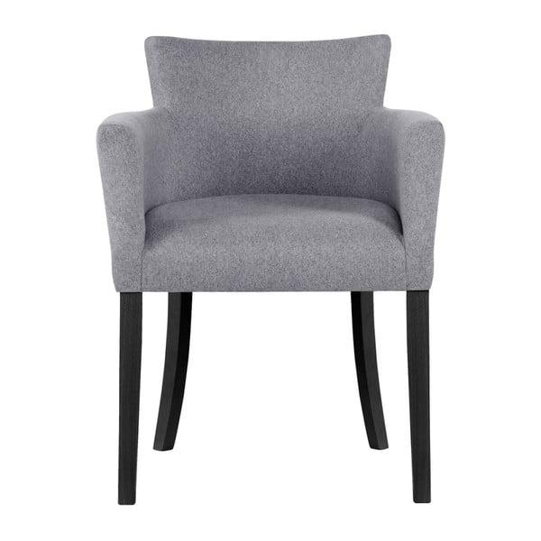 Sivá stolička s čiernymi nohami Ted Lapidus Maison Santal