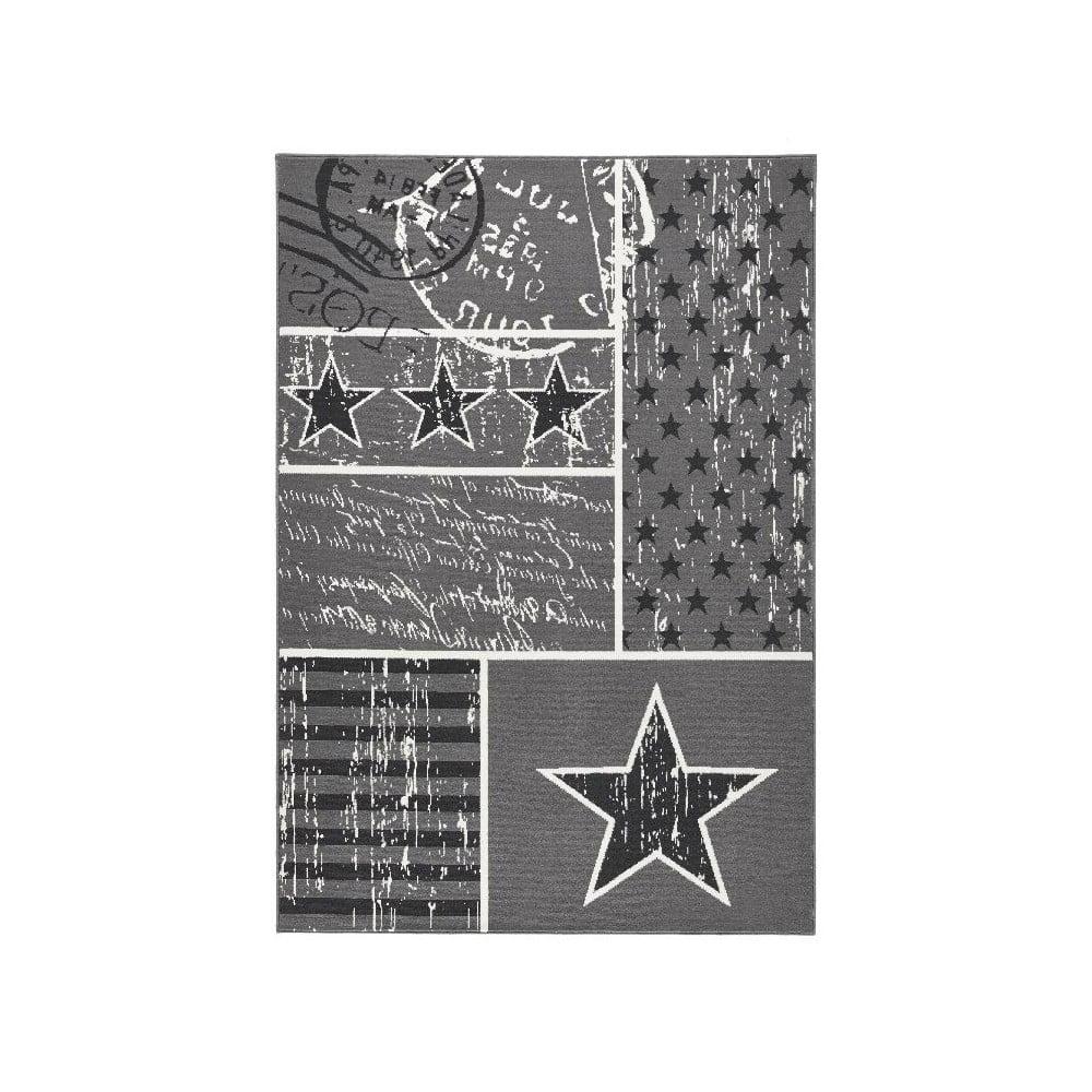Detský sivý koberec Hanse Home Stars, 140 × 200 cm