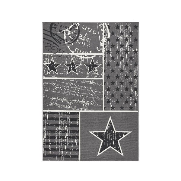 Koberec Hanse Home City & Mix Sivá vlajka, 140x200cm