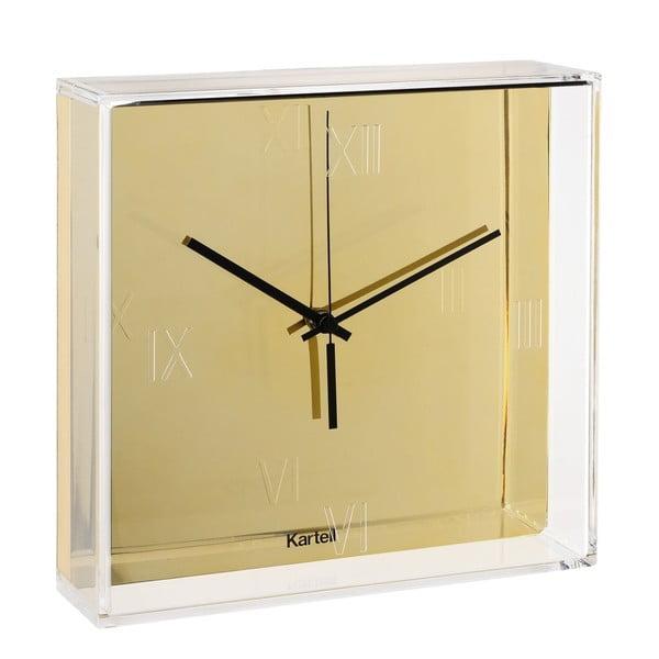 Nástenné hodiny v zlatej farbe Kartell Tic Tac