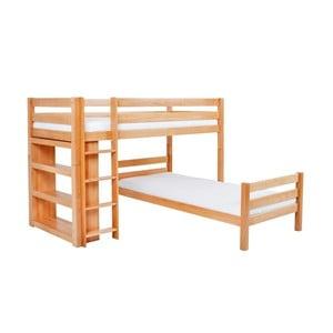Detská poschodová posteľ z masívneho bukového dreva Mobi furniture Emil, 200×90cm