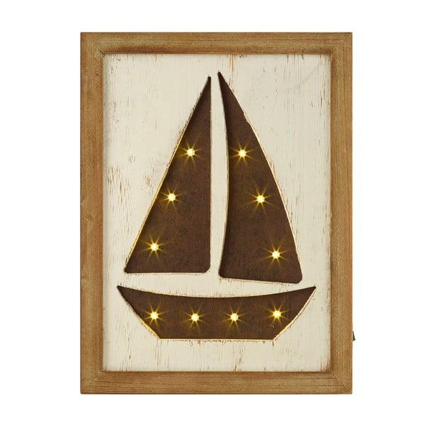Svietiaci LED obraz Artesania Esteban Ferrer Sailing Boat
