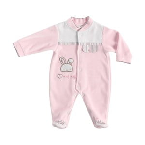 Detské ružové pyžamo pre novorodencov Naf Naf Rabbit
