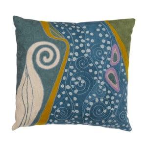 Obliečka na vankúš Klimt Peacock Swirls, 45x45 cm