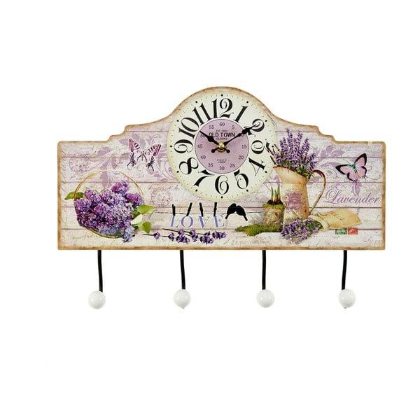 Drevený vešiak Lavender, 39x26 cm