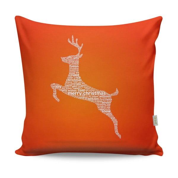 Oranžový vankúš Christmas Deer