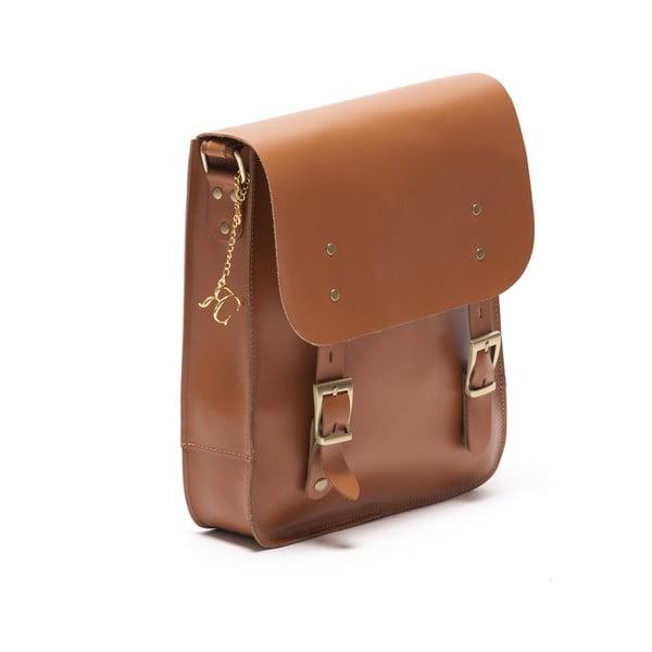 Kožená kabelka Renata Corsi 399 Cognac