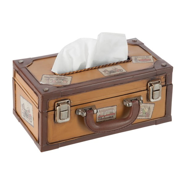 Box na vreckovky Suitcase Cappuccino