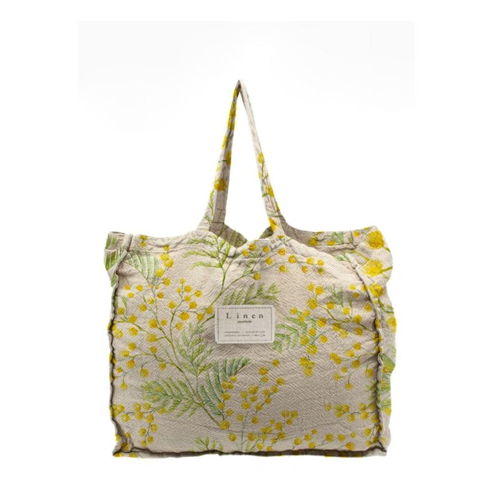 Látková taška Linen Couture Mimosa, šírka 50 cm