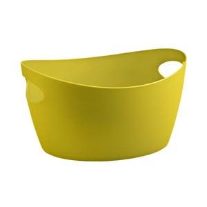 Žltá plastová úložná nádoba Koziol Bottichelli, 4,5 l