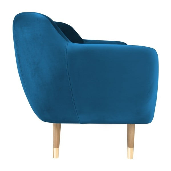 Modrá trojmiestna pohovka Mazzini Sofas Amelie