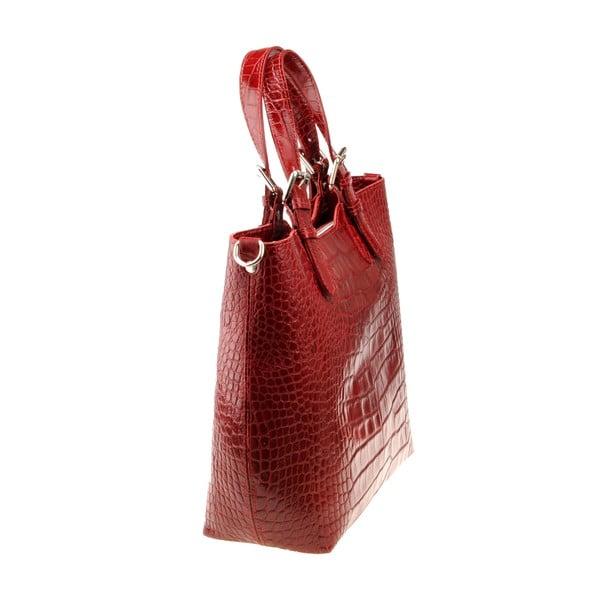 Červená kožená kabelka Florence Bags Cembro