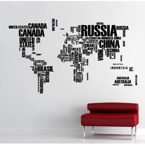 Samolepka na stenu Mapa sveta