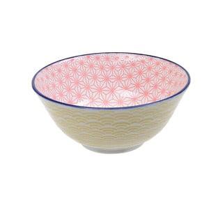 Žlto-ružová porcelánová miska Tokyo Design Studio Star, ⌀ 15,2 cm
