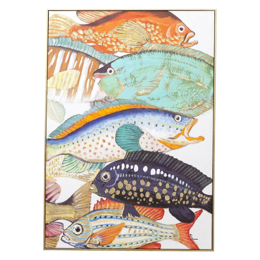 Obraz Kare Design Touched Fish Meeting II 100 × 75 cm