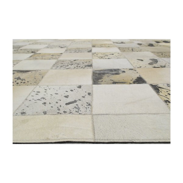 Koberec z pravej kože Padova Beige, 120x180 cm
