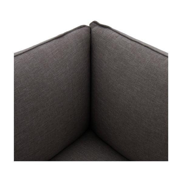 Tmavosivé kreslo VIVONITA Cube, ľavá strana