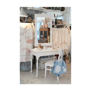 Biely drevený stolík Castagnetti Nadine