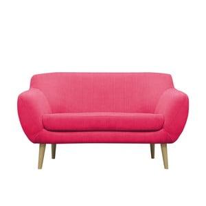 Ružová pohovka pre dvoch Mazzini Sofas Sardaigne, svetlé nohy