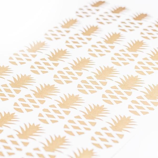 Samolepky na stenu Ananas Gold, 36 ks