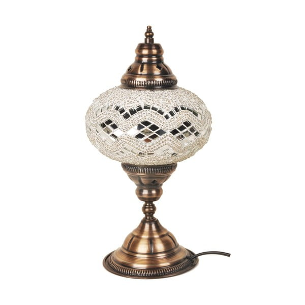 Sklenená lampa Homemania Dianthe, ⌀17cm