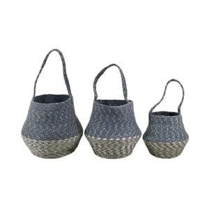 Sada 3 úložných košíkov z juty Moycor Bell Basket