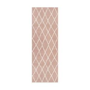 Ružový behúň Elle Decor Passion Abbeville, 80×200 cm