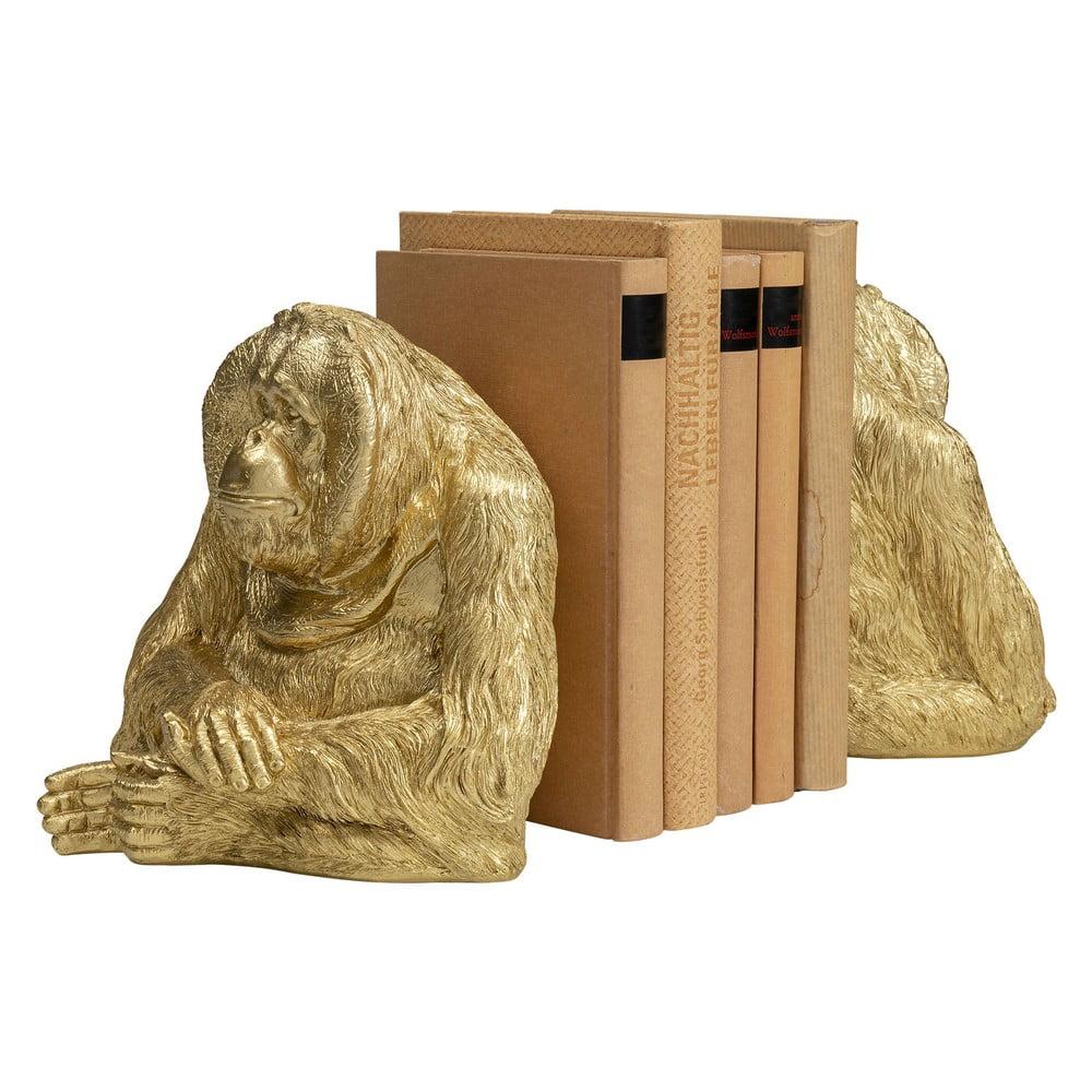 Sada dvoch zlatých zarážok na knihy Kare Design Ornago Utan