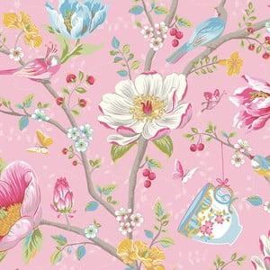 Tapeta Pip Studio Chinese Garden, 0,52x10 m, ružová