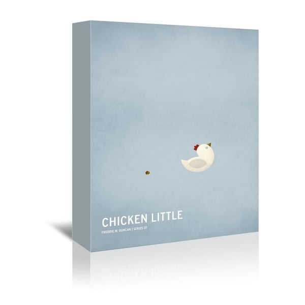 Obraz na plátne Chicken Little With Text od Christiana Jacksona