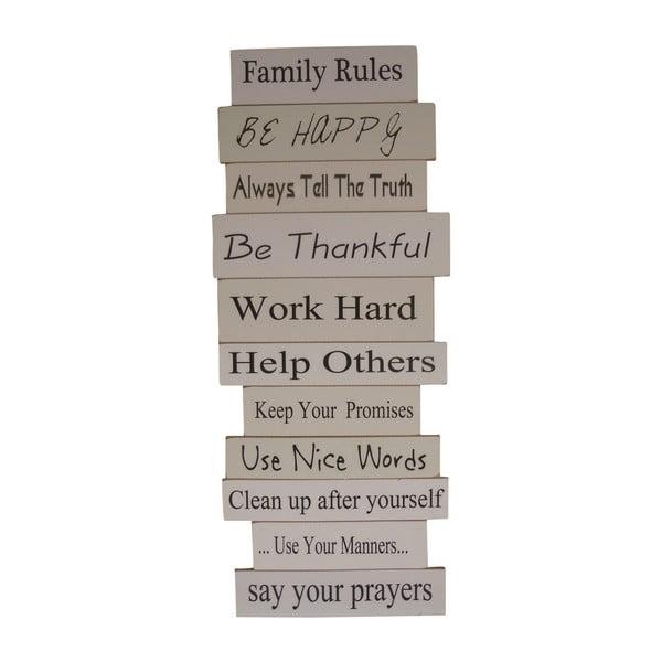 Závesná ceduľa Keep Family Rules