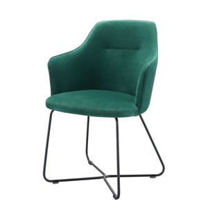 Tmavozelená stolička s opierkami na ruky Wewood - Portugues Joinery Sartor