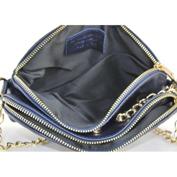 Kožená listová kabelka Gialina Blue