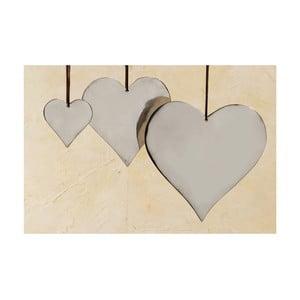 Sada 3 závesných dekorácií Boltze Heart Plain