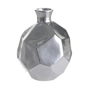 Sklenená váza Polygon, 18 cm, strieborná