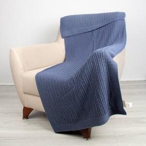 Modrá bavlnená deka Clen
