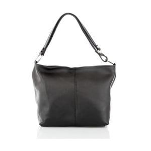 Čierna kožená kabelka Glorious Black Lorella