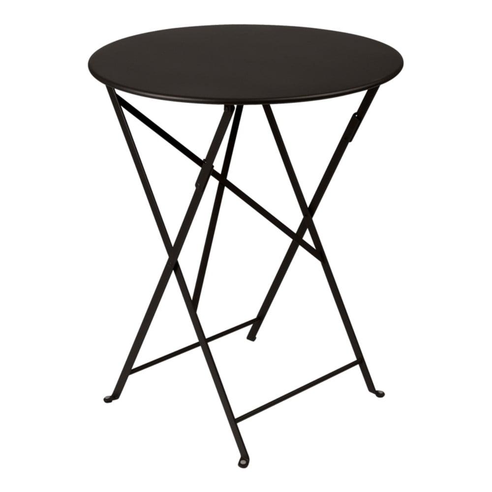Čierny záhradný stolík Fermob Bistro, Ø 60 cm