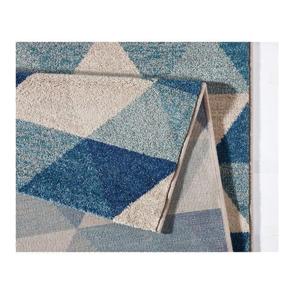 Modrý koberec Mint Rugs Diamond Triangle, 160 x 230 cm
