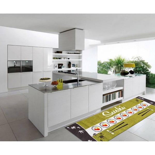 Vysokoodolný kuchynský koberec Sushi, 60x300 cm