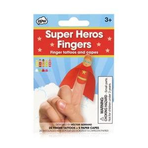 Sada tetovania na prsty npw™ Superhero