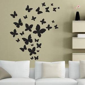 Dekoratívna samolepka na stenu Čierne motýle