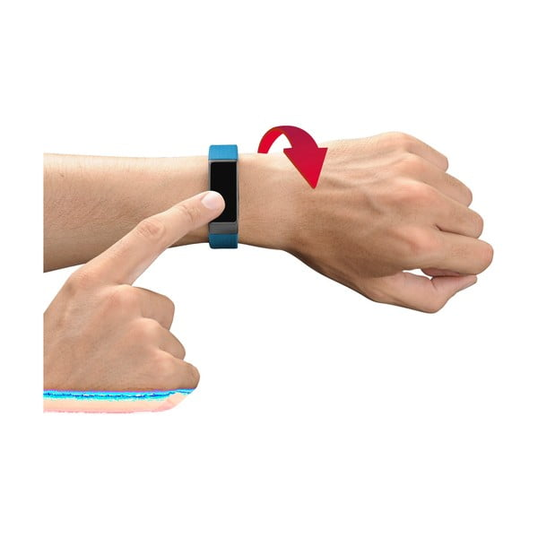 Modro-čierny bluetooth fitness náramok s dotykovým displejom CellularLine EASYFIT TOUCH