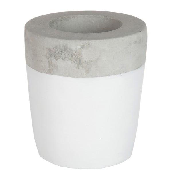 Stojan na sviečku Cement White