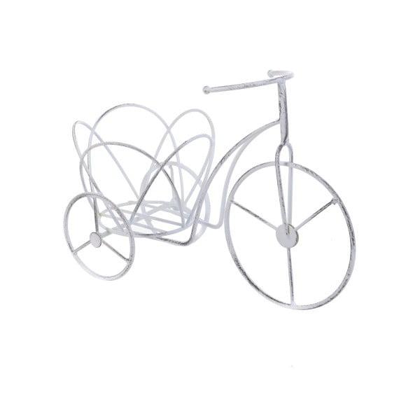 Kovový stojan na kvetináč InArt Bike, biely