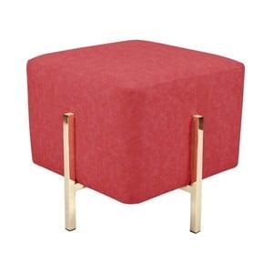 Červená stolička s nohami v zlatej farbe Vivorum Liani